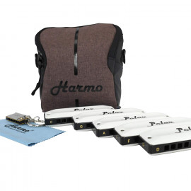 Harmo Harmo Polar Blues harmonica set of 5 Diatonic Harmonicas $199.90