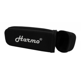 Harmonica case for 12 hole chromatic harmonica by Harmo – black zip pouch
