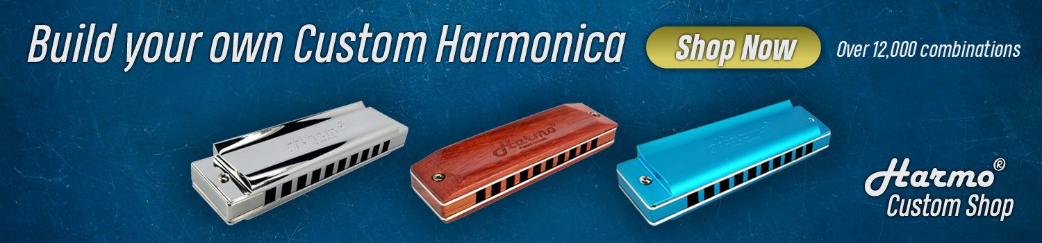 Hohner, Seydel, Suzuki, Lee Oskar, Easttop, Kongsheng, Huang harmonicas. Create your own harmonica with Harmo USA.