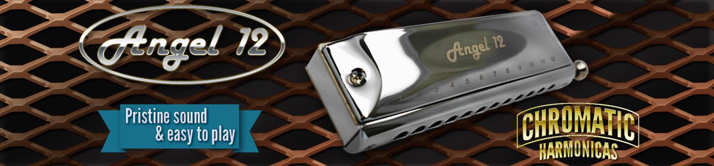 12 hole chromatic harmonica - Angel 12