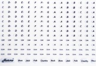 3D harmonica 3M quality stickers sheet